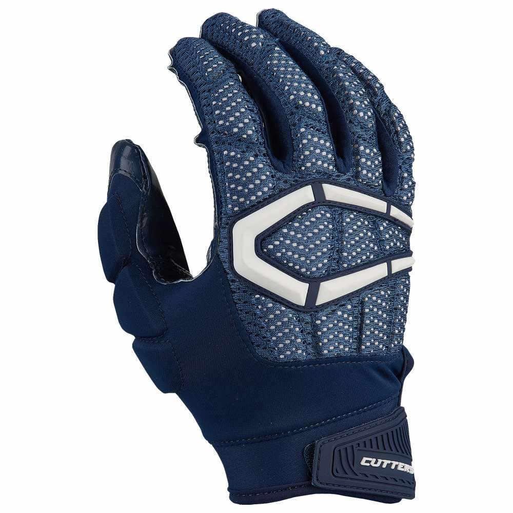 カッターズ Cutters メンズ アメリカンフットボール グローブ【Gamer 3.0 Padded Football Gloves】Navy