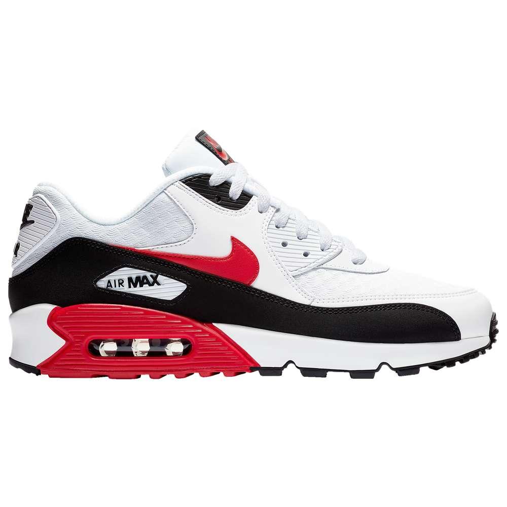 ナイキ Nike メンズ ランニング・ウォーキング シューズ・靴【Air Max 90】White/University Red/Black