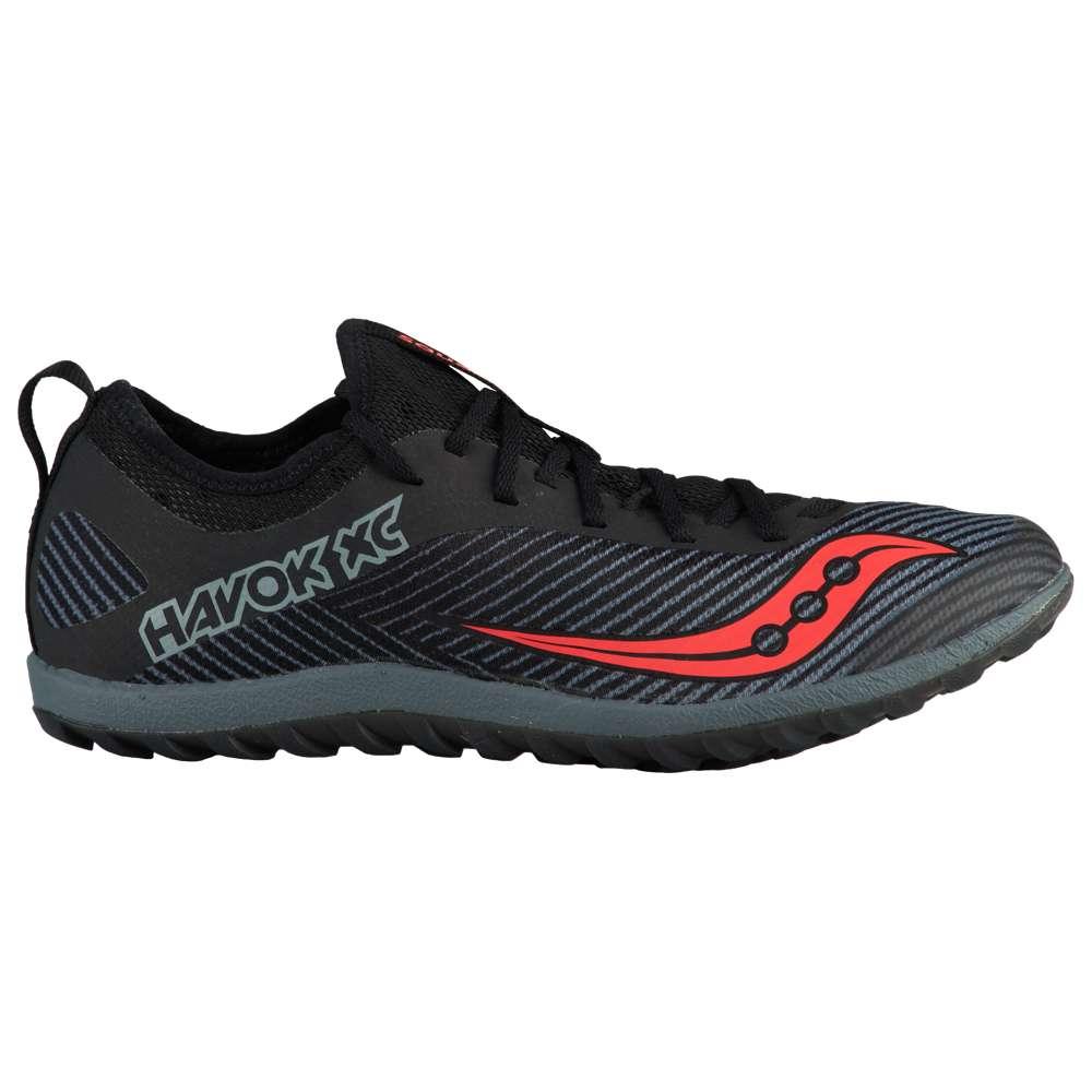 サッカニー Saucony レディース 陸上 シューズ・靴【Havok XC2 Flat】Black/Grey/Vizi Red