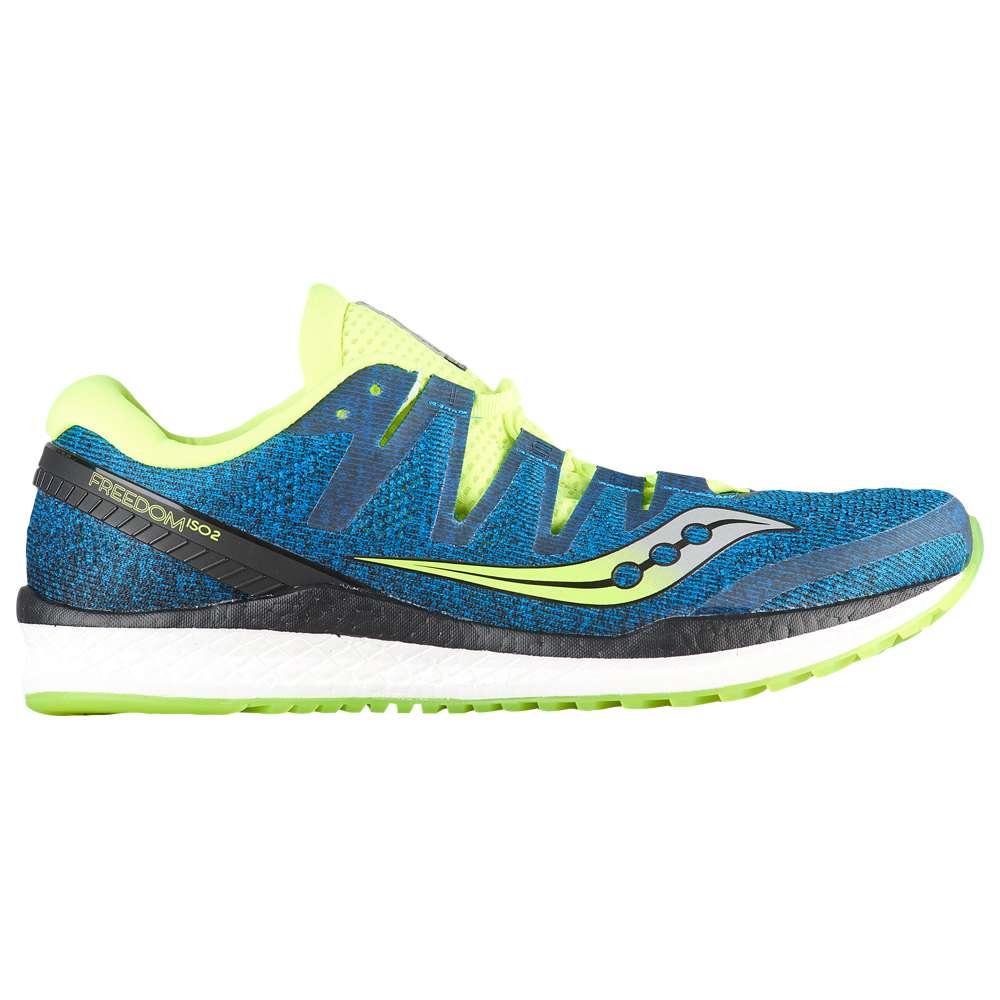 サッカニー Saucony メンズ ランニング・ウォーキング シューズ・靴【Freedom ISO 2】Blue/Citron