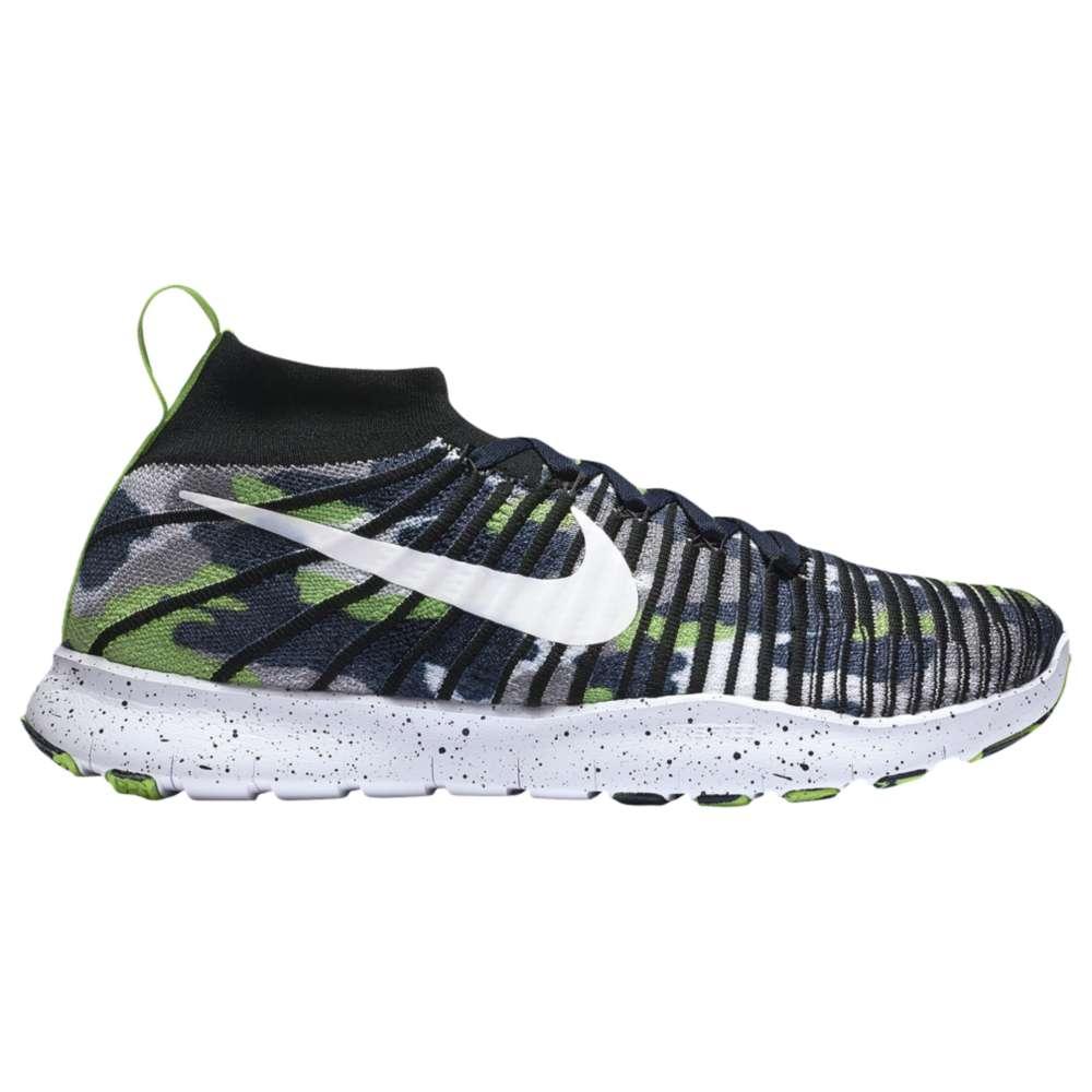 ナイキ Nike メンズ フィットネス・トレーニング シューズ・靴【Free Force Flyknit】Action Green/College Navy/White