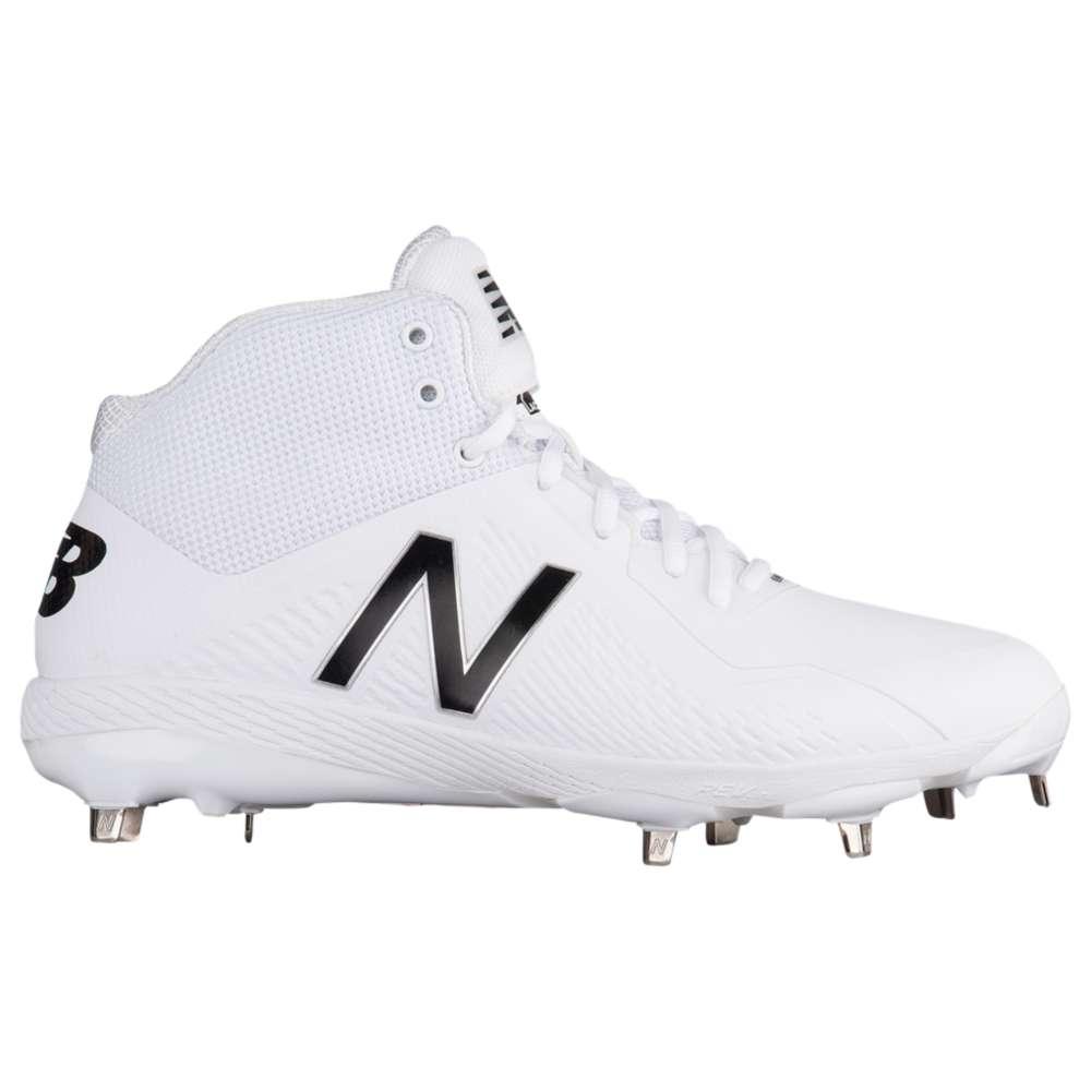 ニューバランス New Balance メンズ 野球 シューズ・靴【4040v4 Metal Mid】White/White