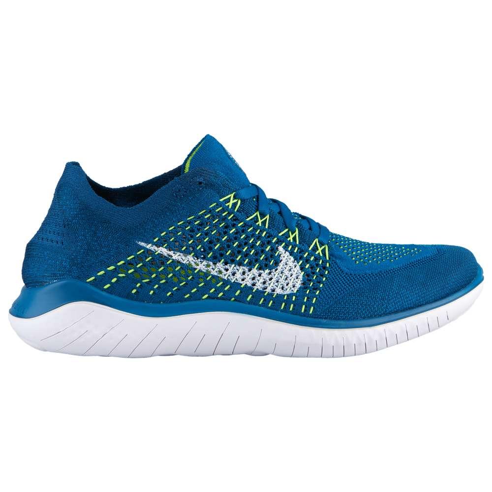 ナイキ Nike メンズ ランニング・ウォーキング シューズ・靴【Free RN Flyknit 2018】Green Abyss/White/Blue Force/Volt