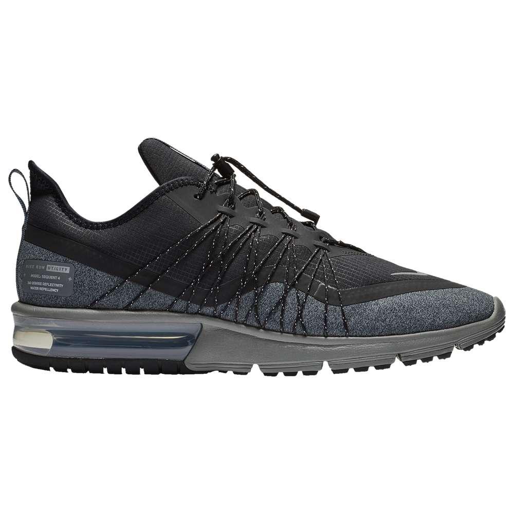 ナイキ Nike メンズ ランニング・ウォーキング シューズ・靴【Air Max Sequent 4 Utility】Black/Metallic Silver/Dark Grey