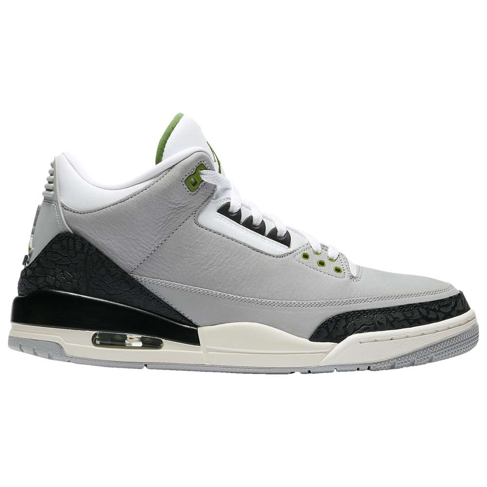 ナイキ ジョーダン Jordan メンズ バスケットボール シューズ・靴【Retro 3】Light Smoke Grey/Chlorophyll/Black/White/Sail