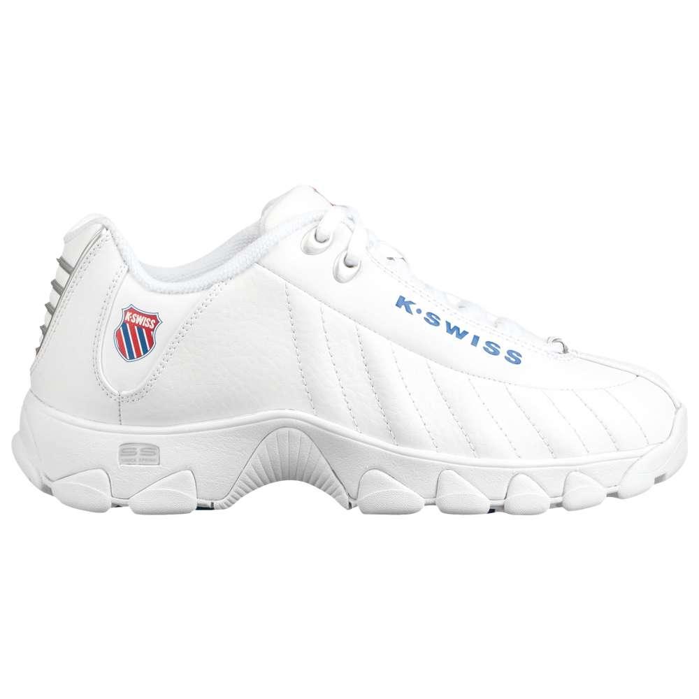 ケースイス K-Swiss レディース テニス シューズ・靴【ST329 Heritage】White/Classic Blue/Ribbon Red