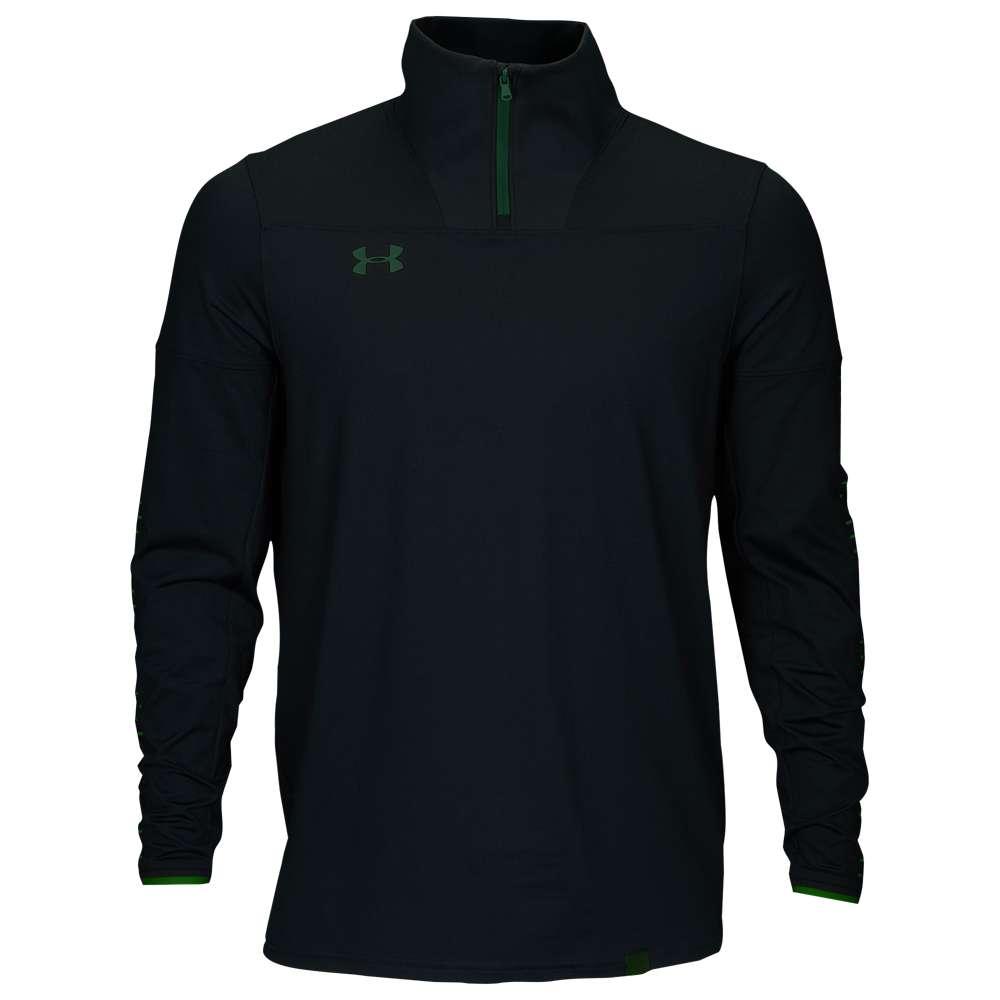 アンダーアーマー Under Armour メンズ フィットネス・トレーニング トップス【Team Knit 1/4 Zip】Black/Forest Green