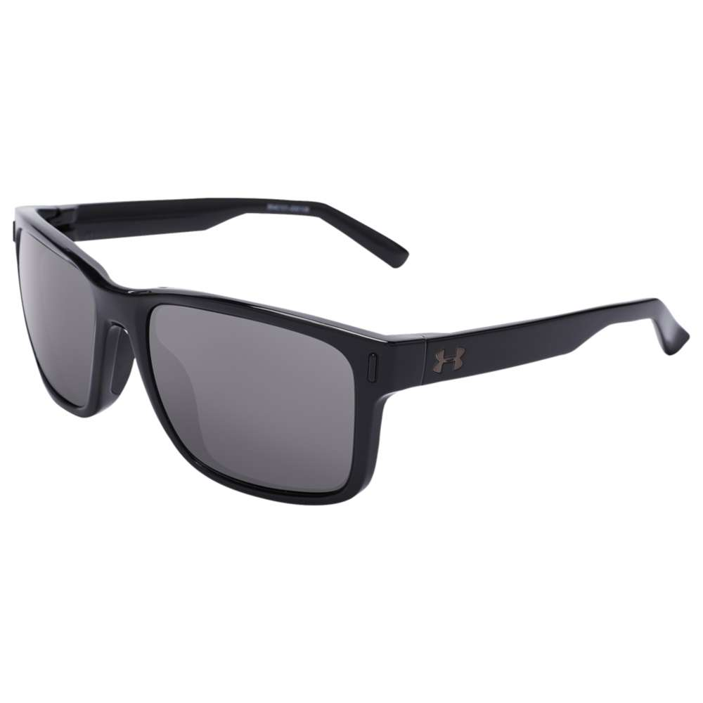アンダーアーマー Under Armour Team ユニセックス スポーツサングラス【Assist Sunglasses】Shiny Black/Black/Grey Polarized Lens