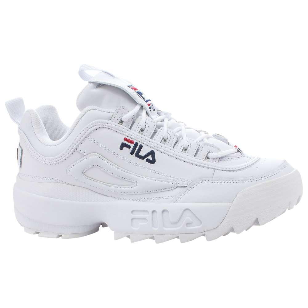 フィラ Fila メンズ フィットネス・トレーニング シューズ・靴【Disruptor II】White/Peacoat/Red