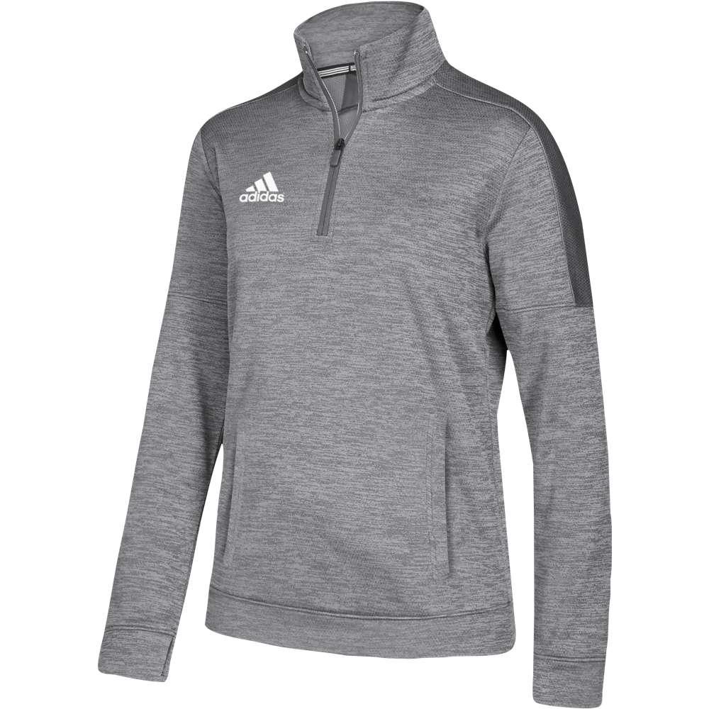 アディダス adidas レディース フィットネス・トレーニング トップス【Team Issue 1/4 Zip】Grey Two