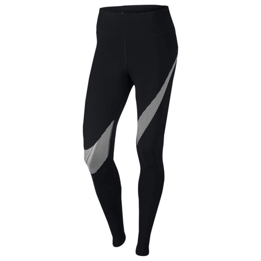 ナイキ Nike レディース フィットネス・トレーニング ボトムス・パンツ【Dri-Fit Cotton Graphic Tights】Black/White