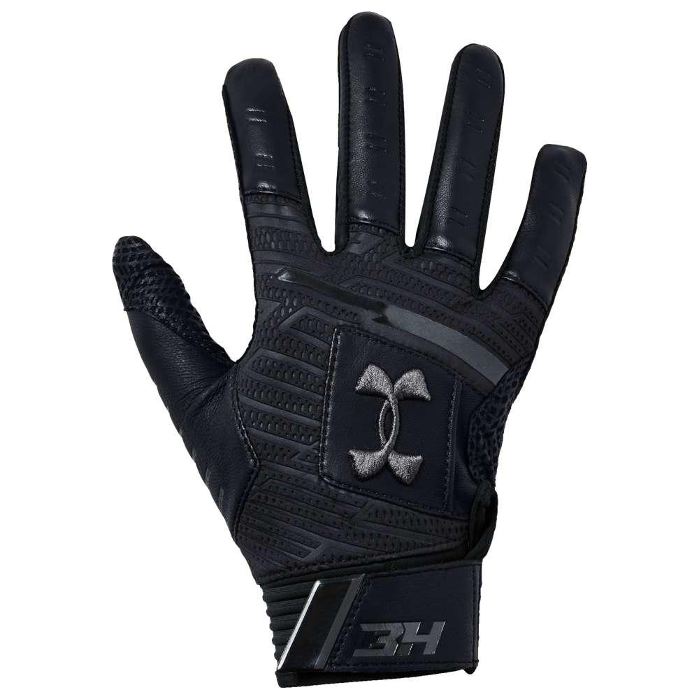 アンダーアーマー Under Armour メンズ 野球 グローブ【Harper Pro 18 Batting Gloves】Black/Black/Graphite