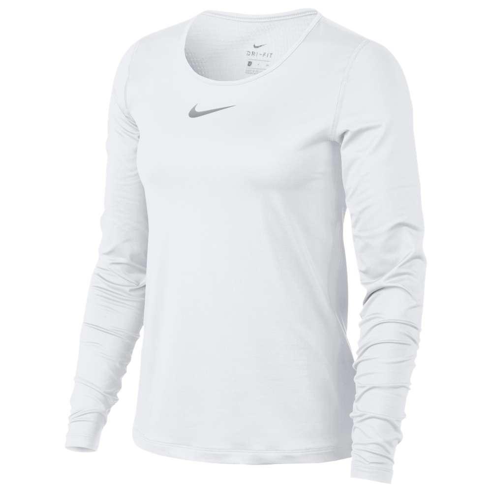 ナイキ Nike レディース フィットネス・トレーニング トップス【Pro Warm Long Sleeve Top】White