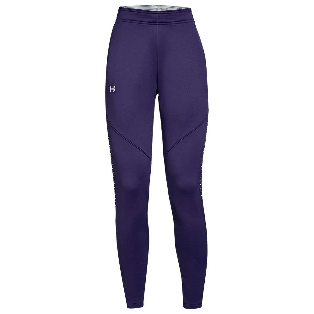 アンダーアーマー Under Armour レディース フィットネス・トレーニング ボトムス・パンツ【Team Qualifier Hybrid Warm-Up Pants】Purple/White