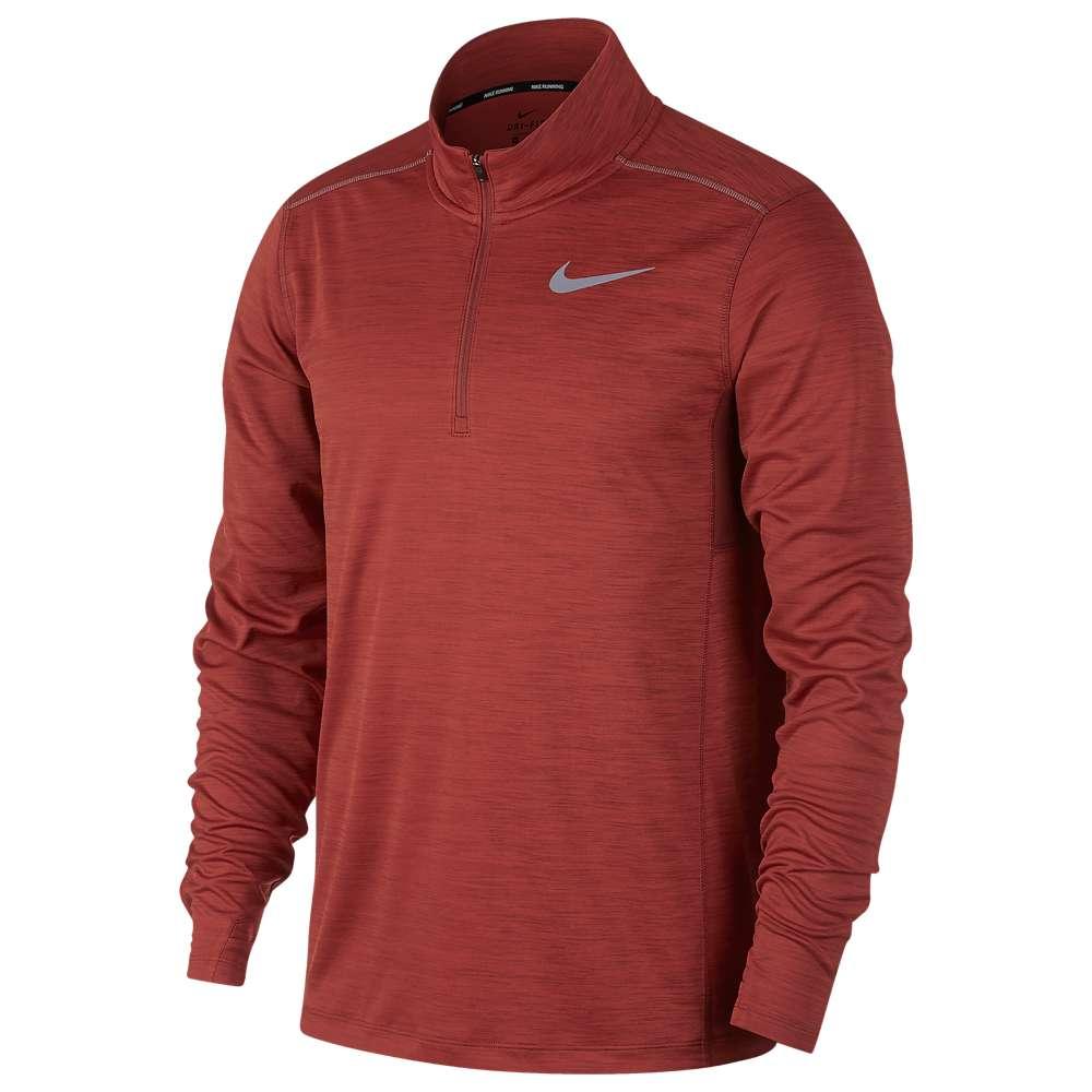 ナイキ Nike メンズ ランニング・ウォーキング トップス【Pacer 1/2 Zip Top】Dune Red/Heather