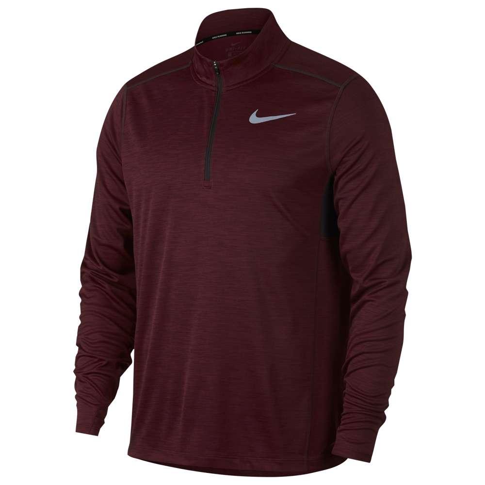ナイキ Nike メンズ ランニング・ウォーキング トップス【Pacer 1/2 Zip 2.0】Burgundy Crush/Heather