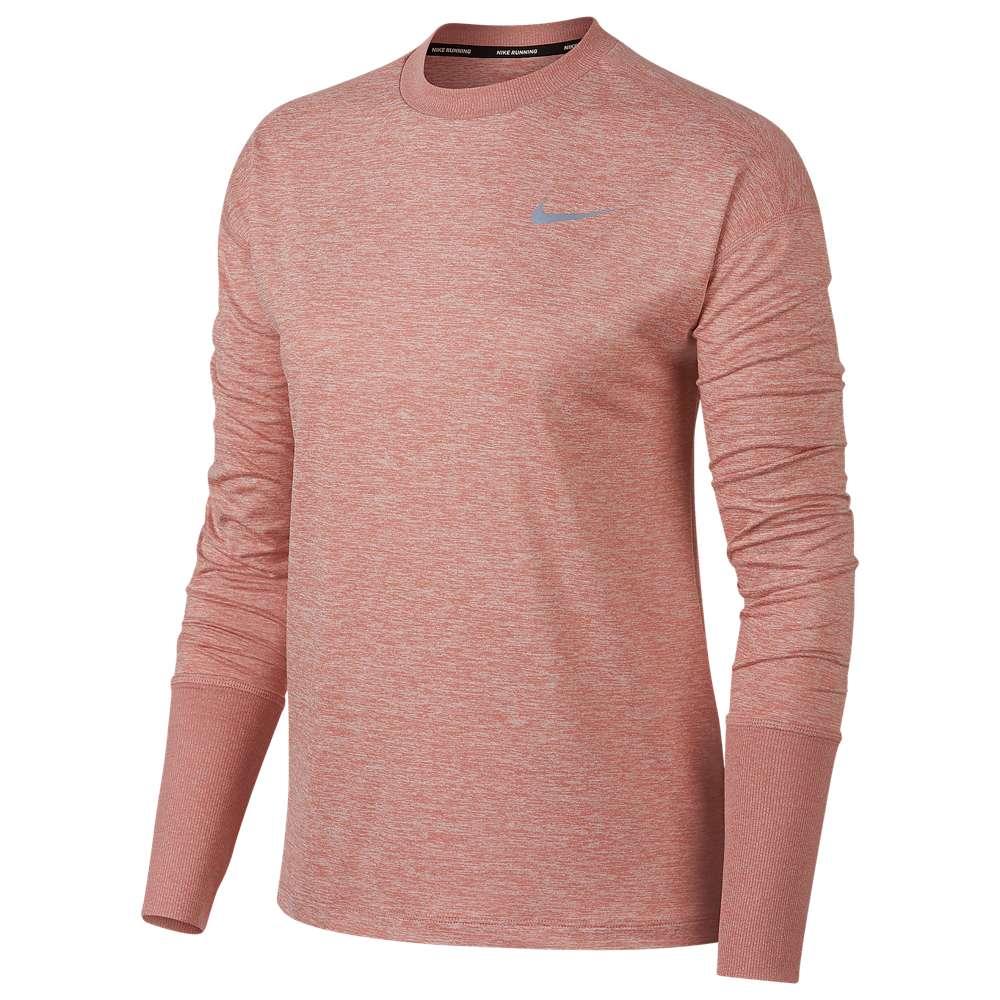 ナイキ Nike レディース フィットネス・トレーニング トップス【Element Crew Top】Rust Pink/Heather