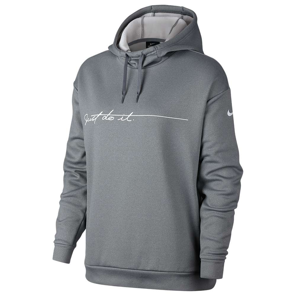 ナイキ Nike レディース フィットネス・トレーニング トップス【Therma Script JDI Hoodie】Cool Grey/White