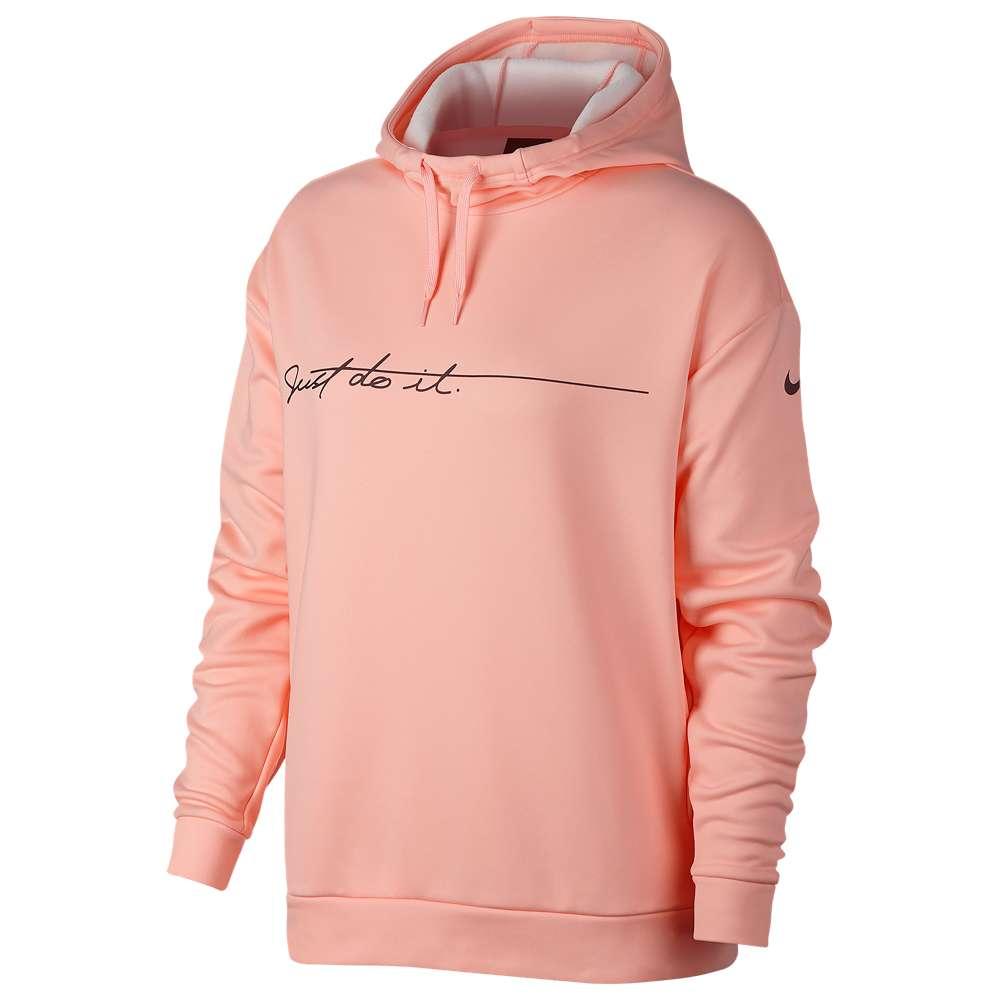 ナイキ Nike レディース フィットネス・トレーニング トップス【Therma Script JDI Hoodie】Storm Pink/Burgundy Crush
