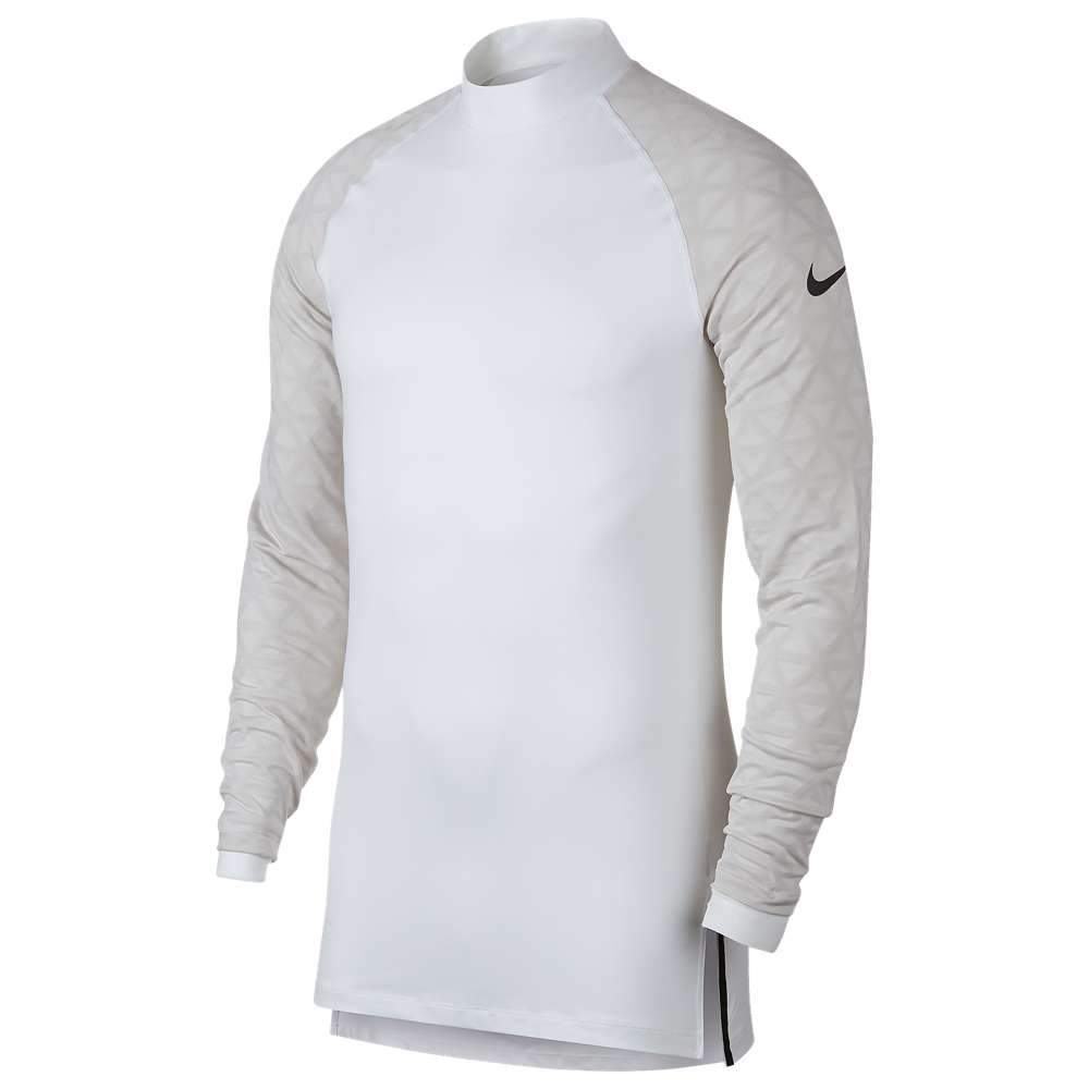 ナイキ Nike メンズ フィットネス・トレーニング トップス【Pro Therma Utility L/S Mock】White/Atmosphere Grey/Black
