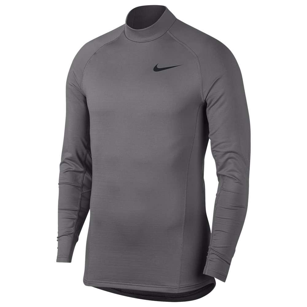 ナイキ Nike メンズ フィットネス・トレーニング トップス【Pro Therma L/S Mock】Gunsmoke/Black