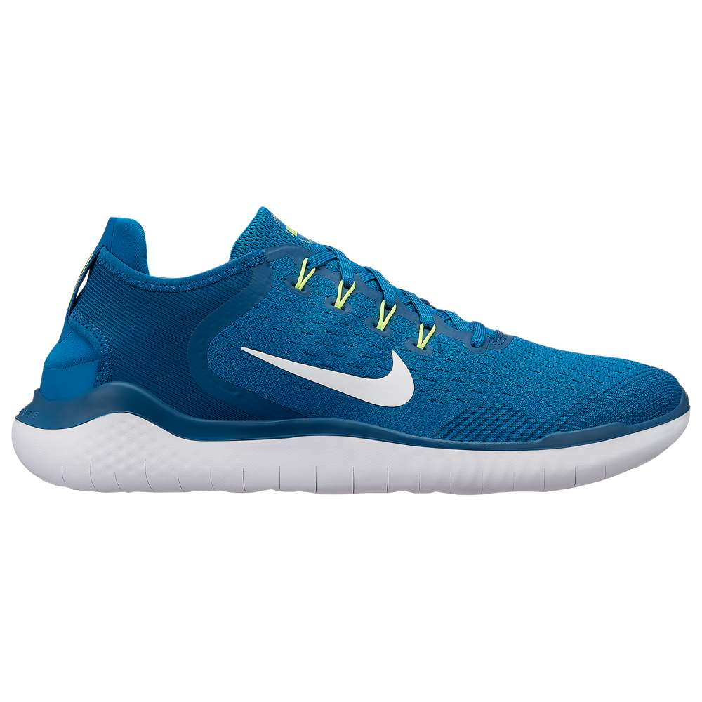 ナイキ Nike メンズ ランニング・ウォーキング シューズ・靴【Free RN 2018】Blue Force/White/Green Abyss/Volt