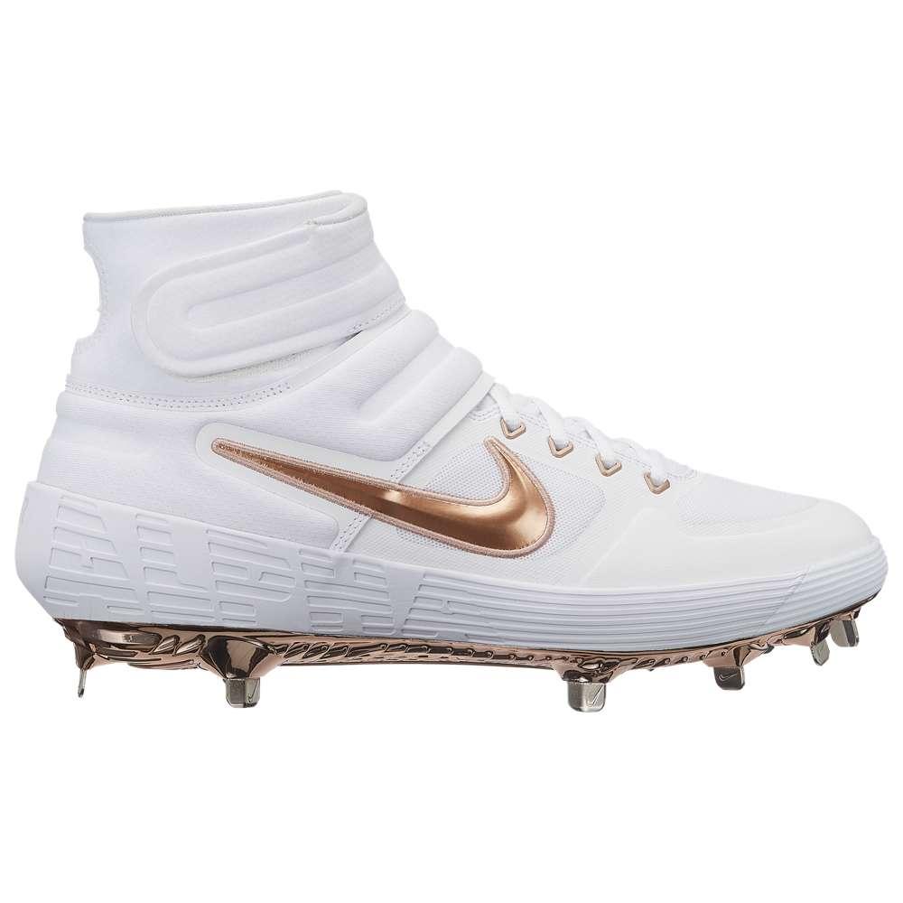 ナイキ Nike メンズ 野球 シューズ・靴【Alpha Huarache Elite 2 Mid】White/Metallic Red Bronze/Pure Platinum