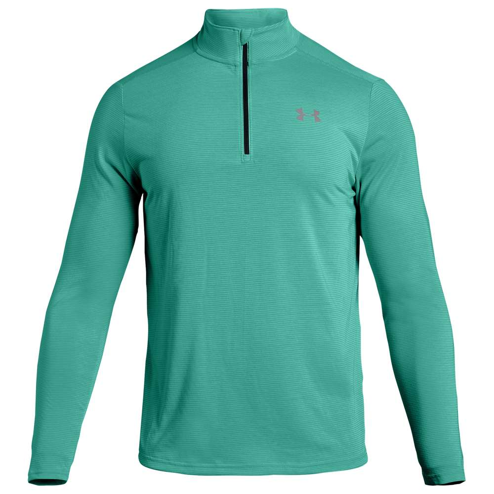 アンダーアーマー Under Armour メンズ ランニング・ウォーキング トップス【AllseasonGear Streaker 1/4 Zip】Green Malachite/Green Malachite/Reflection