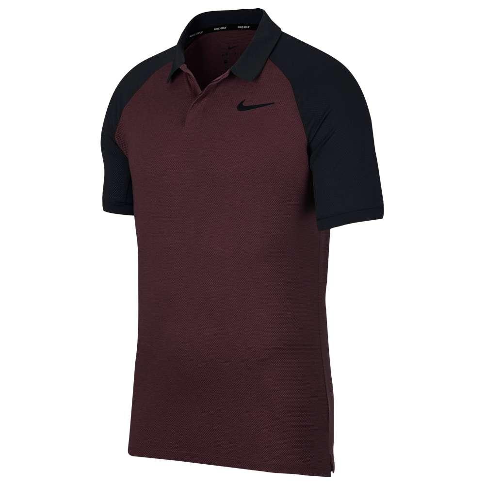 ナイキ Nike メンズ ゴルフ トップス【Dri-Fit Raglan Golf Polo】Burgundy Crush/Black