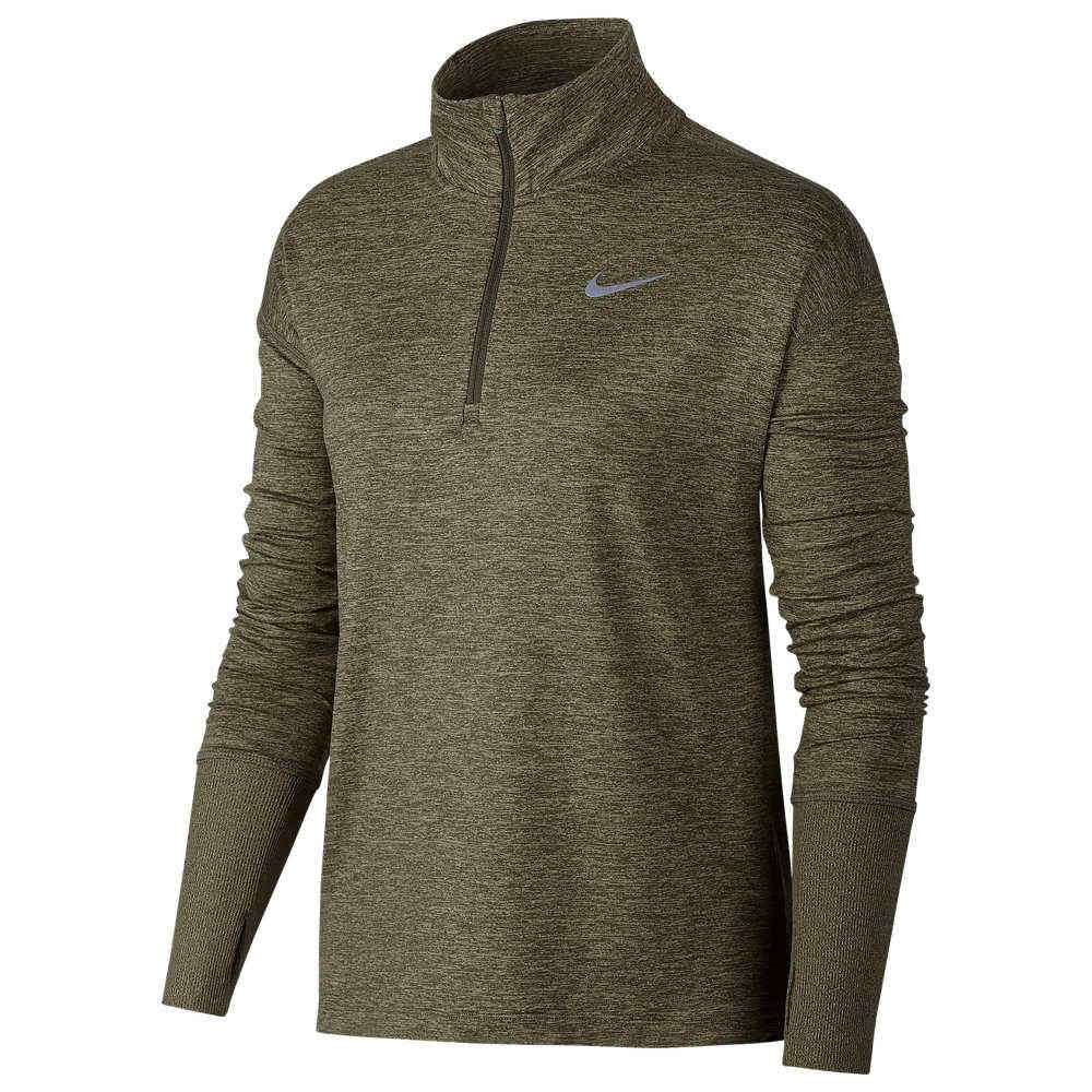 ナイキ Nike レディース フィットネス・トレーニング トップス【Element 1/2 Zip Top】Medium Olive/Neutral Olive/Heather