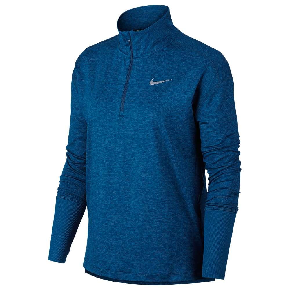 ナイキ Nike レディース フィットネス・トレーニング トップス【Element 1/2 Zip Top】Blue Force/Green Abyss/Heather/Reflective
