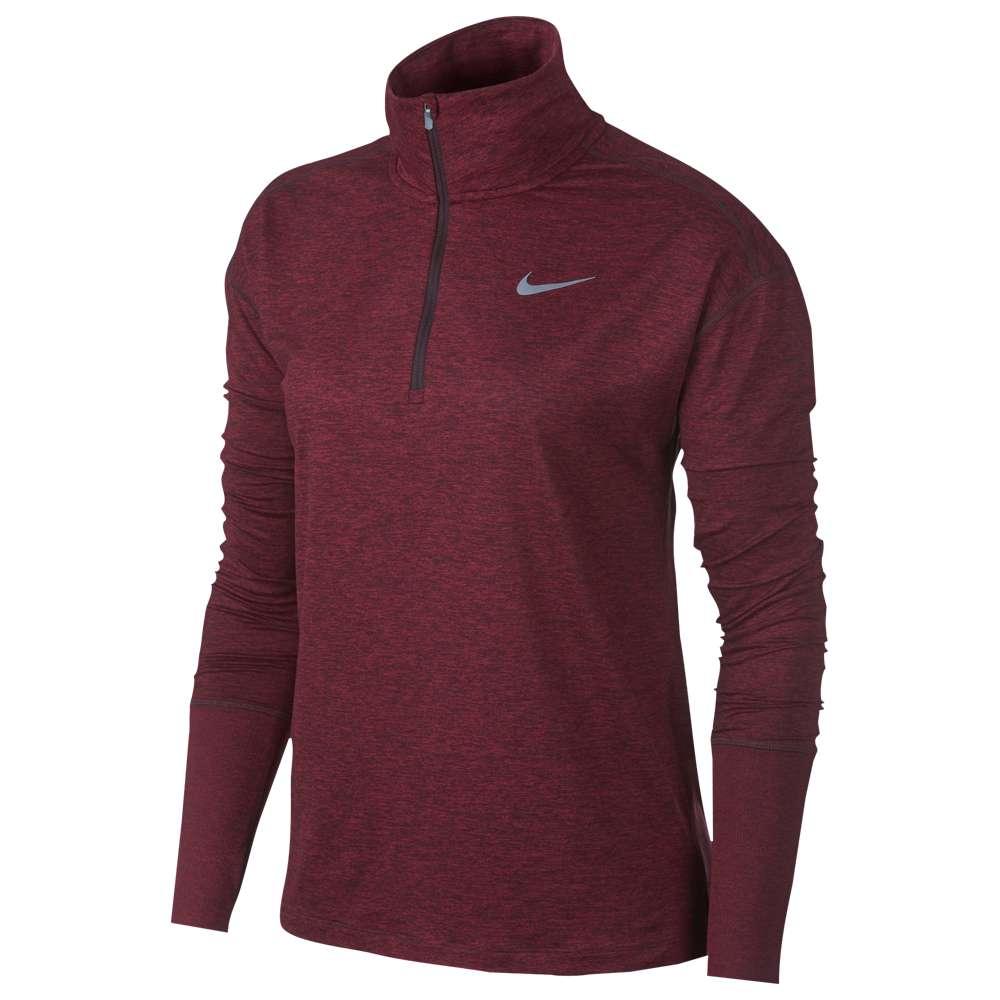 ナイキ Nike レディース フィットネス・トレーニング トップス【Element 1/2 Zip Top】Burgundy Crush/Red Crush/Heather