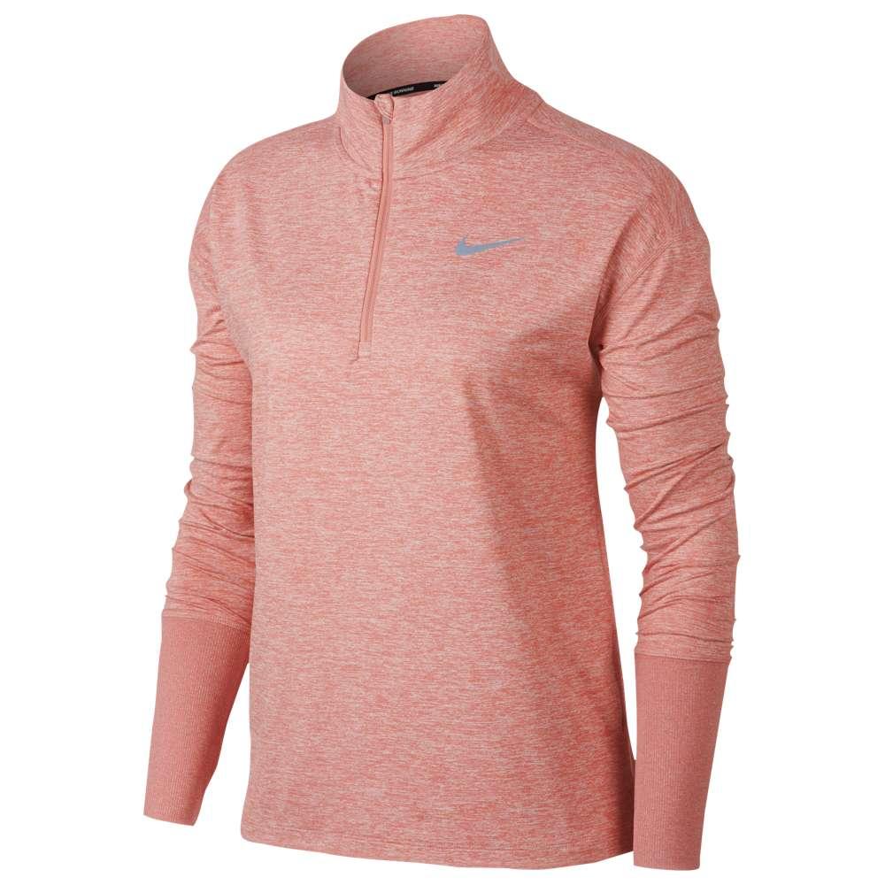 ナイキ Nike レディース フィットネス・トレーニング トップス【Element 1/2 Zip Top】Rust Pink/Heather