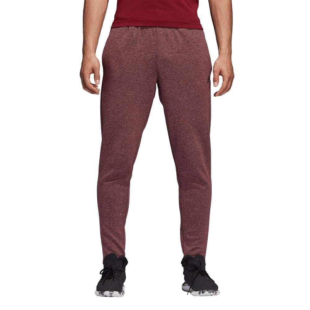 アディダス adidas Athletics メンズ ボトムス・パンツ【ID Stadium Fleece Pants】Heather/Nobel Maroon
