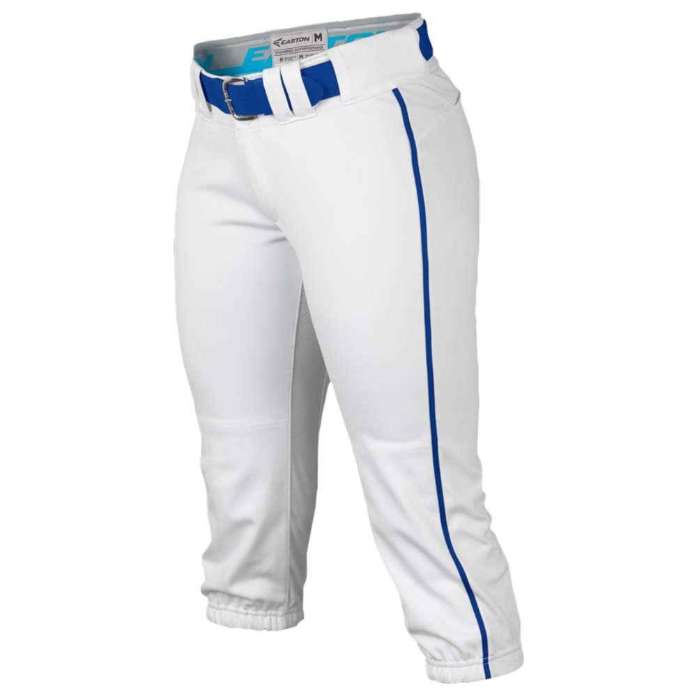 イーストン Easton レディース 野球 ボトムス・パンツ【Prowess Piped Softball Pants】White/Royal