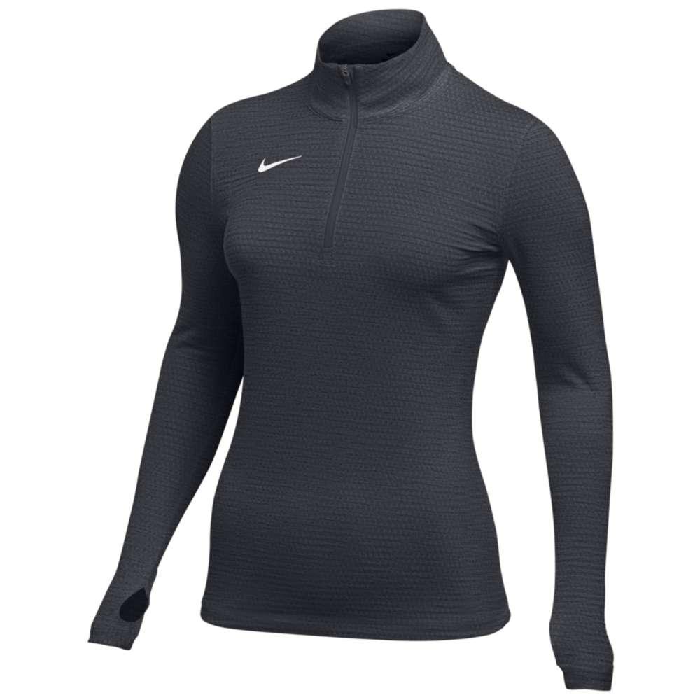 ナイキ Nike レディース フィットネス・トレーニング トップス【Team Authentic Dry 1/2 Zip Top】Anthracite/White