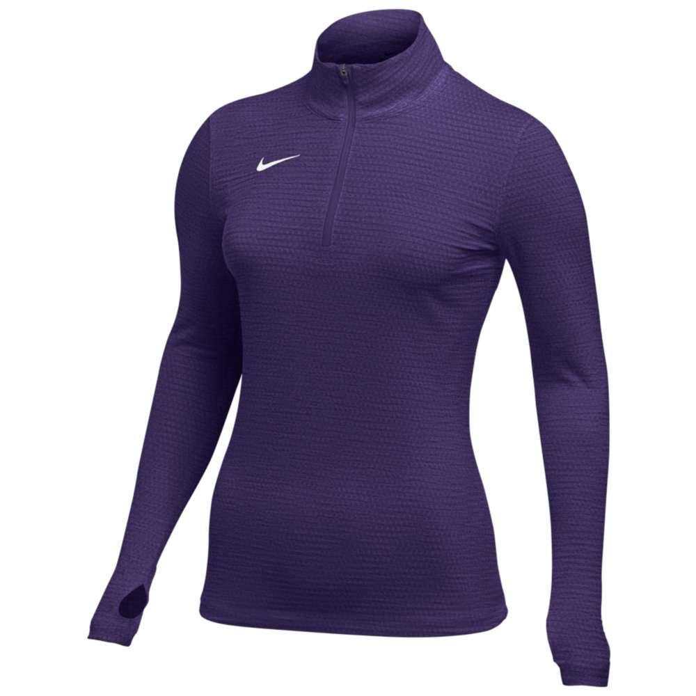 ナイキ Nike レディース フィットネス・トレーニング トップス【Team Authentic Dry 1/2 Zip Top】Court Purple/White