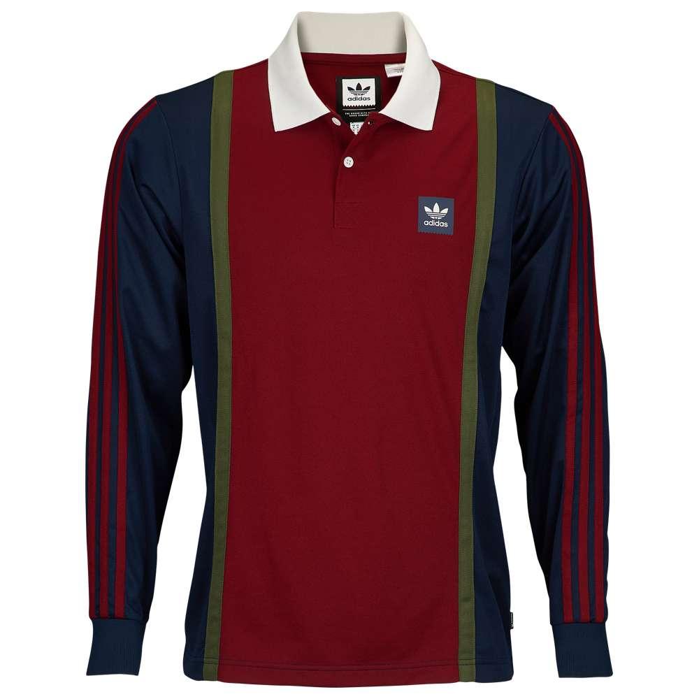 アディダス adidas Originals メンズ トップス【Rugby Jersey】Collegiate Navy/Collegiate Burgundy/Base Green