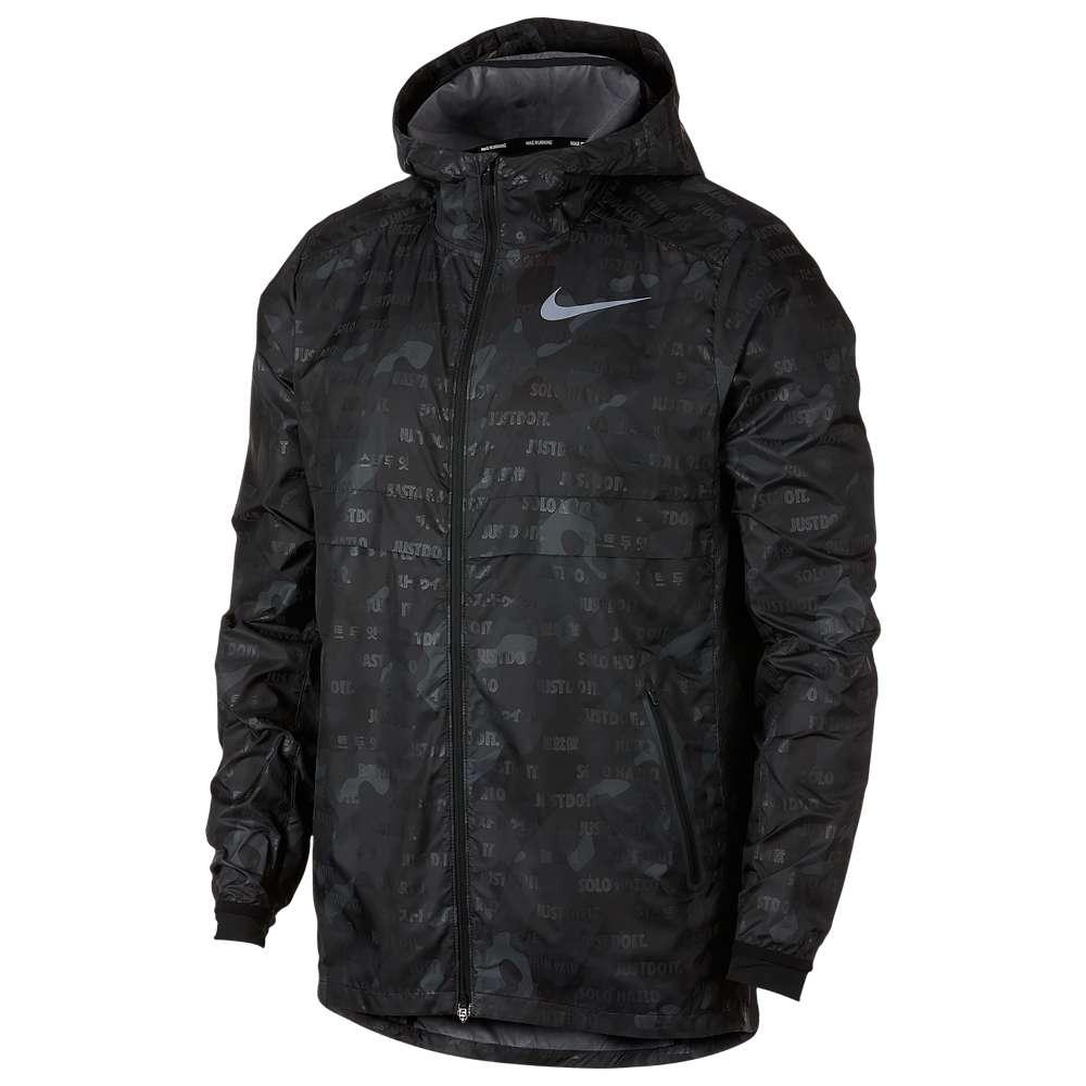 ナイキ Nike メンズ ランニング・ウォーキング アウター【Shield Ghost Camo Jacket】Black/Black/Reflective Silver