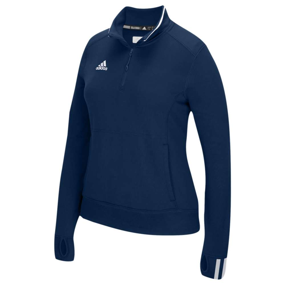 アディダス adidas レディース フィットネス・トレーニング トップス【Team Climalite 1/4 Zip】Collegiate Navy/White