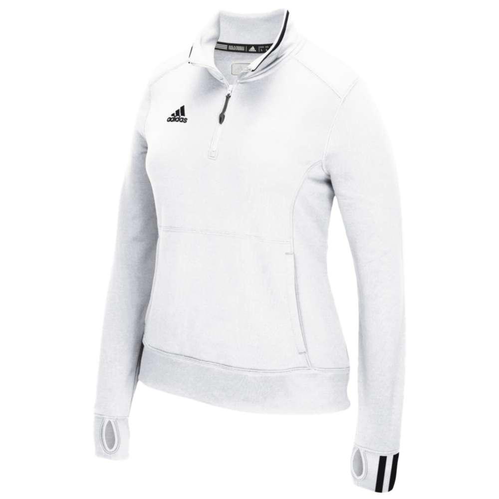 アディダス adidas レディース フィットネス・トレーニング トップス【Team Climalite 1/4 Zip】White/Onix