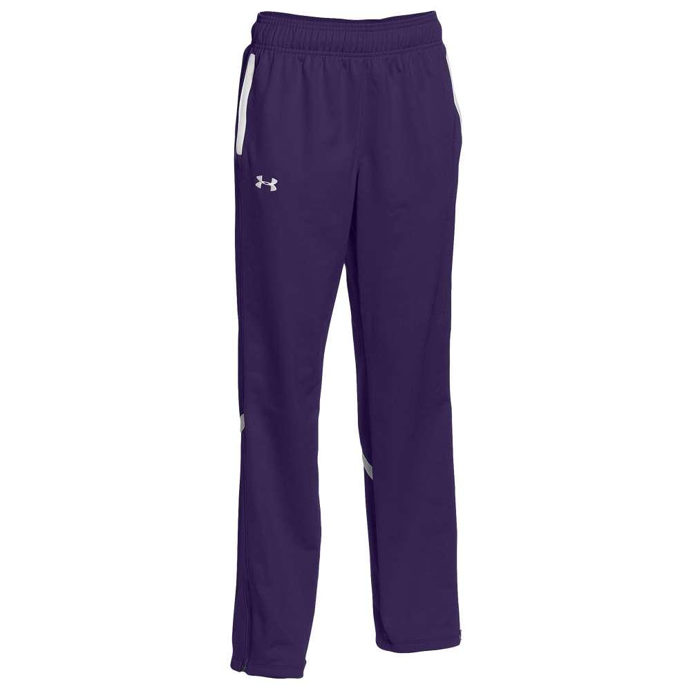 アンダーアーマー Under Armour レディース フィットネス・トレーニング ボトムス・パンツ【Team Qualifier Warm-Up Pants】Team Purple/White