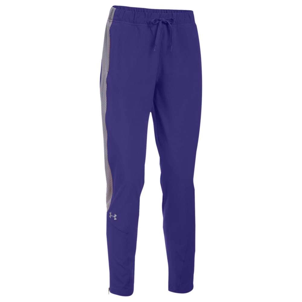 アンダーアーマー Under Armour レディース フィットネス・トレーニング ボトムス・パンツ【Team Squad Woven Warm Up Pants】Purple/Steel