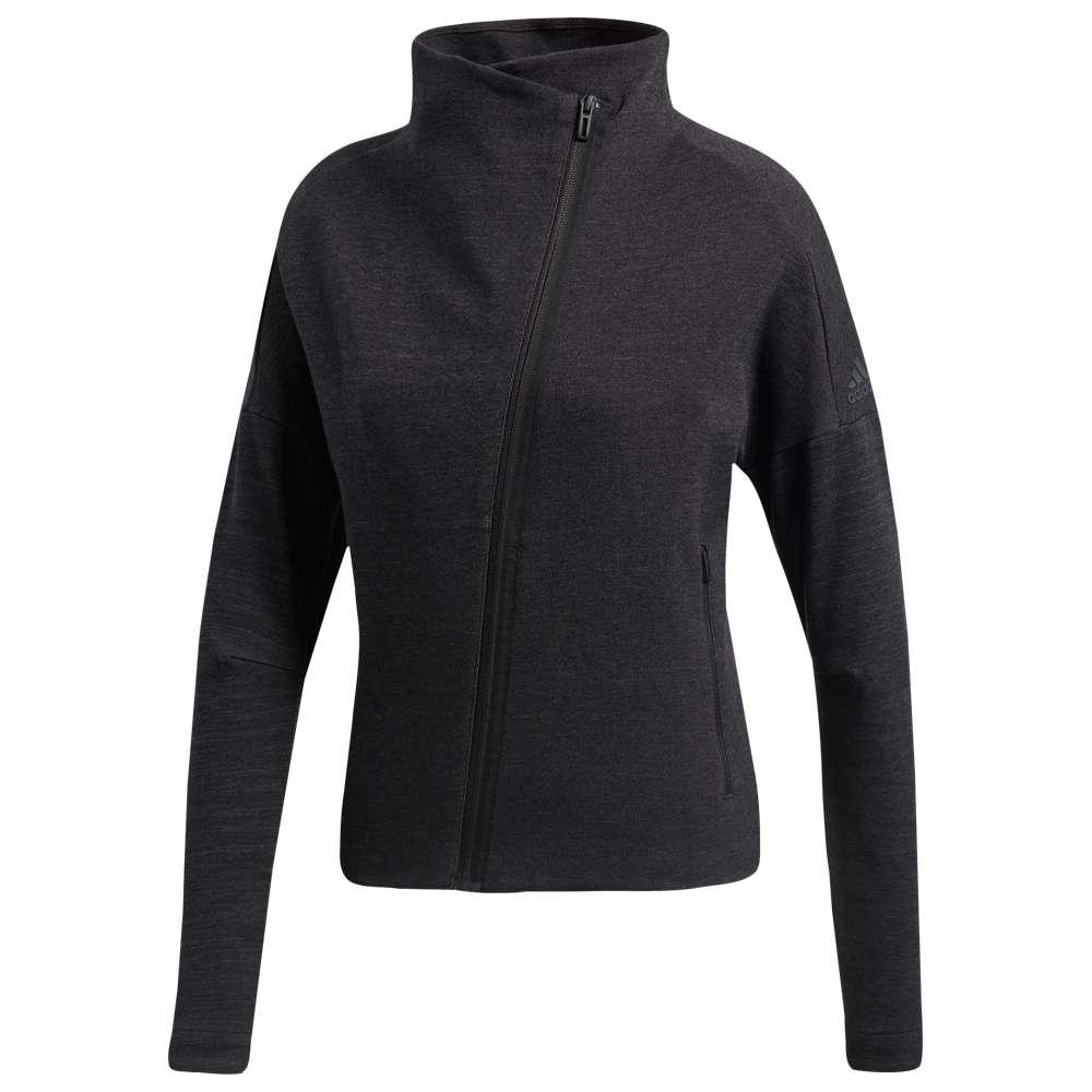 アディダス adidas レディース フィットネス・トレーニング トップス【Heart Racer Cover Up Jacket】Black/Solid Grey