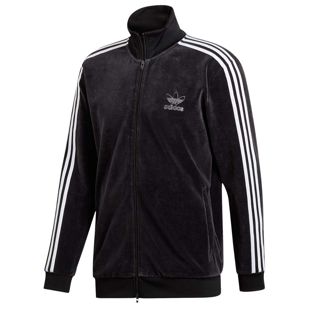 9fe94c6883 DU7777 z Men Adidas Originals Velour Beckenbauer Track Jacket Black