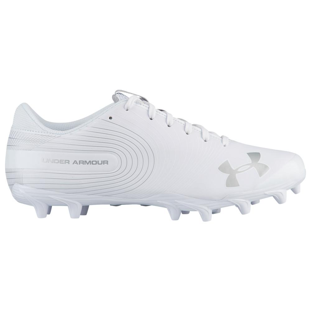 アンダーアーマー Under Armour メンズ アメリカンフットボール シューズ・靴【Speed Phantom Low MC】White/White