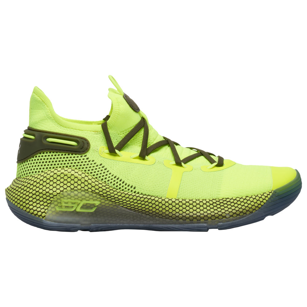 アンダーアーマー Under Armour メンズ バスケットボール シューズ・靴【Curry 6】Stephen Curry Hi-Vis Yellow/Ambrosia/Guardian Green