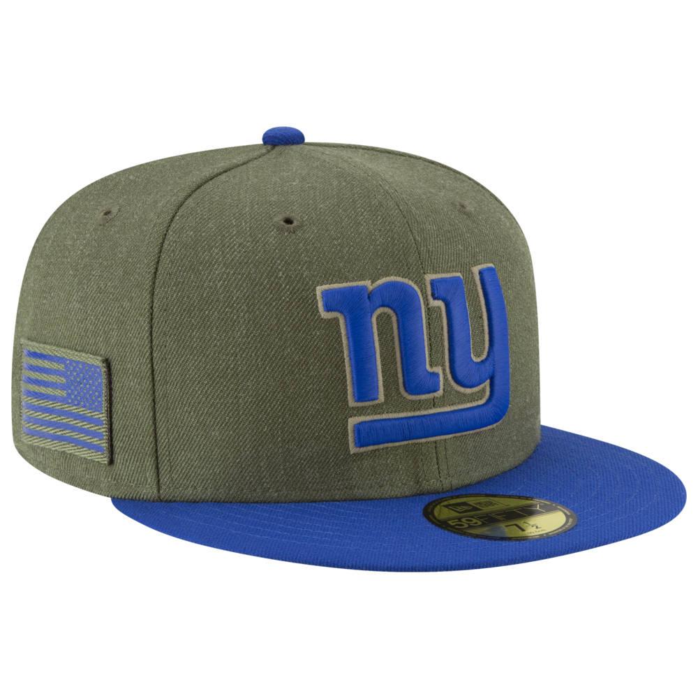 ニューエラ New Era メンズ 帽子 キャップ【NFL 59Fifty Salute to Service Cap】NFL New York Giants Heather Army Sideline