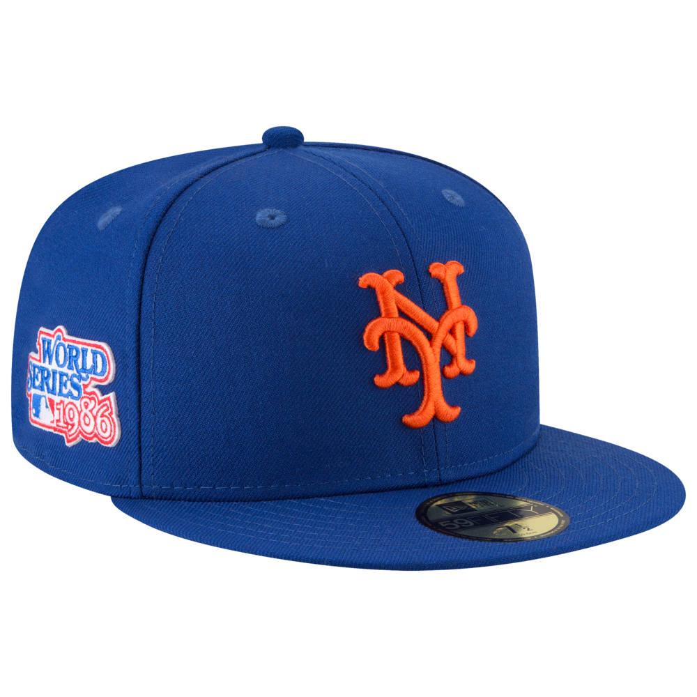 ニューエラ New Era メンズ 帽子 キャップ【MLB 59Fifty Cooperstown WS Side Patch Cap】MLB New York Mets Royal 1986