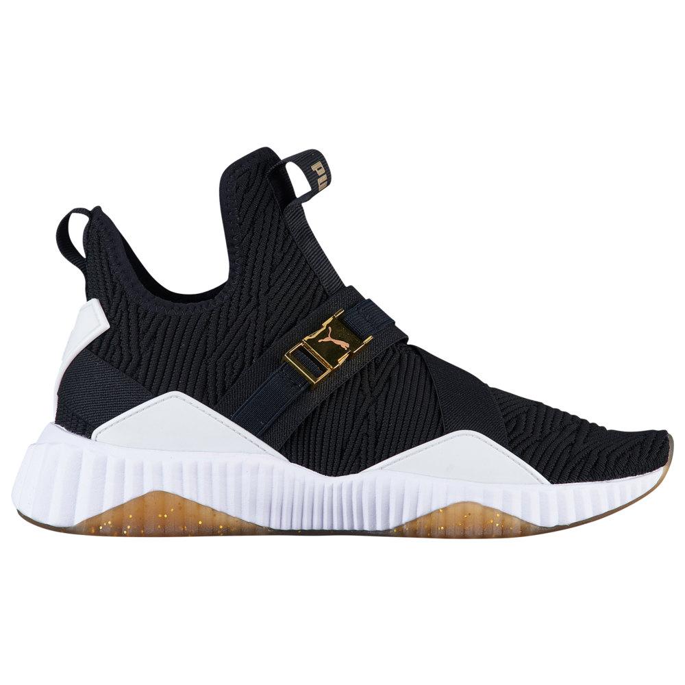 プーマ PUMA レディース フィットネス・トレーニング シューズ・靴【Defy Mid Varsity】Black/Metallic Gold